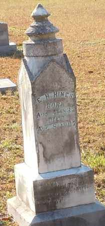 HINES, E H - Walthall County, Mississippi | E H HINES - Mississippi Gravestone Photos
