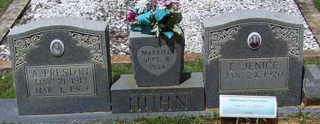 HUHN, A PRESTON - Walthall County, Mississippi   A PRESTON HUHN - Mississippi Gravestone Photos