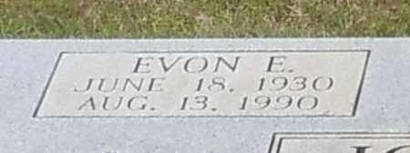 JOHNSON (CLOSE UP), EVON E - Walthall County, Mississippi | EVON E JOHNSON (CLOSE UP) - Mississippi Gravestone Photos