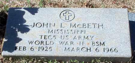 MCBETH (VETERAN WWII), JOHN L - Walthall County, Mississippi | JOHN L MCBETH (VETERAN WWII) - Mississippi Gravestone Photos