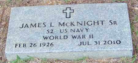 MCKNIGHT SR (VETERAN WWII), JAMES L - Walthall County, Mississippi | JAMES L MCKNIGHT SR (VETERAN WWII) - Mississippi Gravestone Photos