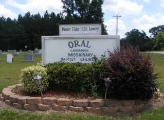 *ORAL CEMETERY SIGN, . - Walthall County, Mississippi | . *ORAL CEMETERY SIGN - Mississippi Gravestone Photos