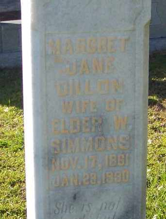 SIMMONS (CLOSE UP), MARGARET JANE - Walthall County, Mississippi   MARGARET JANE SIMMONS (CLOSE UP) - Mississippi Gravestone Photos