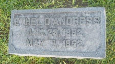 ANDRESS, ETHEL D - Warren County, Mississippi   ETHEL D ANDRESS - Mississippi Gravestone Photos