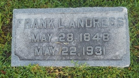 ANDRESS, FRANK LUCILES - Warren County, Mississippi   FRANK LUCILES ANDRESS - Mississippi Gravestone Photos