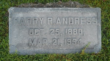 ANDRESS, HARRY R - Warren County, Mississippi   HARRY R ANDRESS - Mississippi Gravestone Photos