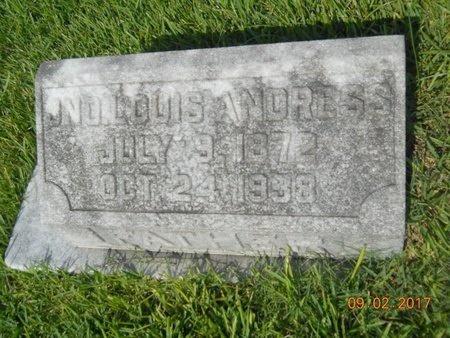 ANDRESS, JONATHAN LOUIS - Warren County, Mississippi | JONATHAN LOUIS ANDRESS - Mississippi Gravestone Photos