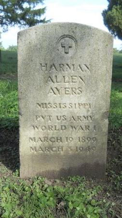 AYERS (VETERAN WWI), HARMAN ALLEN (NEW) - Warren County, Mississippi | HARMAN ALLEN (NEW) AYERS (VETERAN WWI) - Mississippi Gravestone Photos