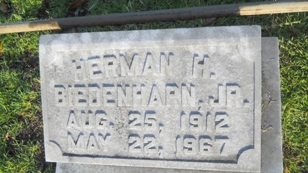 BIEDENHARN, HERMAN H, JR - Warren County, Mississippi | HERMAN H, JR BIEDENHARN - Mississippi Gravestone Photos
