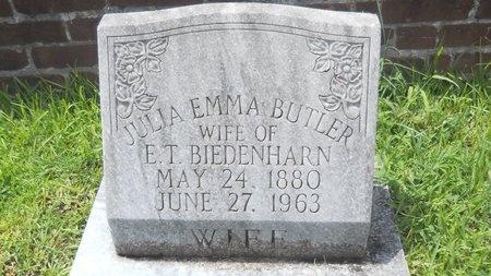 BIEDENHARN, JULIA EMMA - Warren County, Mississippi | JULIA EMMA BIEDENHARN - Mississippi Gravestone Photos