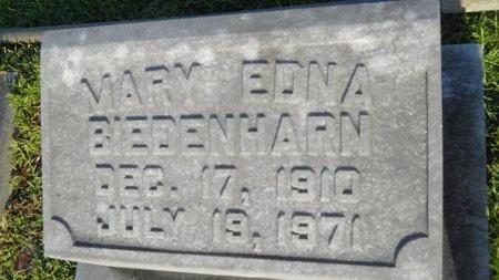 BIEDENHARN, MARY EDNA - Warren County, Mississippi | MARY EDNA BIEDENHARN - Mississippi Gravestone Photos