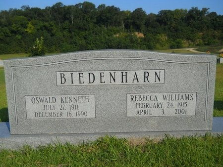 BIEDENHARN, REBECCA - Warren County, Mississippi | REBECCA BIEDENHARN - Mississippi Gravestone Photos