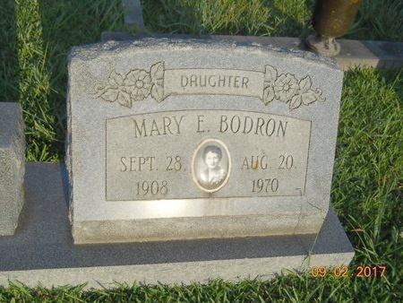 BODRON, MARY E - Warren County, Mississippi | MARY E BODRON - Mississippi Gravestone Photos