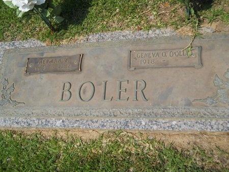 BOLER, HERMAN W - Warren County, Mississippi | HERMAN W BOLER - Mississippi Gravestone Photos