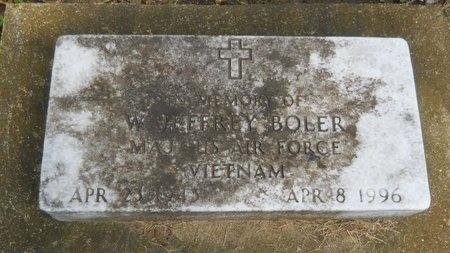 BOLER (VETERAN VIET), W JEFFREY (NEW) - Warren County, Mississippi | W JEFFREY (NEW) BOLER (VETERAN VIET) - Mississippi Gravestone Photos