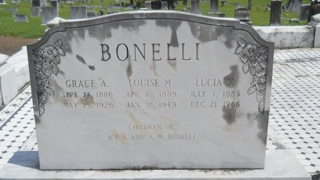 BONELLI, GRACE A - Warren County, Mississippi | GRACE A BONELLI - Mississippi Gravestone Photos