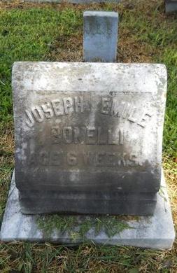 BONELLI, JOSEPH EMILE - Warren County, Mississippi | JOSEPH EMILE BONELLI - Mississippi Gravestone Photos