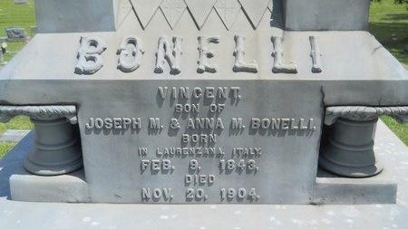 BONELLI, VINCENT (CLOSEUP) - Warren County, Mississippi | VINCENT (CLOSEUP) BONELLI - Mississippi Gravestone Photos