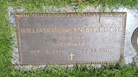 BOYKIN (VETERAN WWII), WILLIAM DUNCAN, SR (NEW) - Warren County, Mississippi | WILLIAM DUNCAN, SR (NEW) BOYKIN (VETERAN WWII) - Mississippi Gravestone Photos