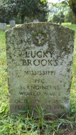 BROOKS (VETERAN WWI), LUCKY (NEW) - Warren County, Mississippi | LUCKY (NEW) BROOKS (VETERAN WWI) - Mississippi Gravestone Photos