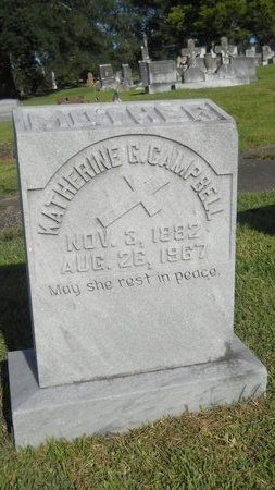 CAMPBELL, KATHERINE G - Warren County, Mississippi | KATHERINE G CAMPBELL - Mississippi Gravestone Photos