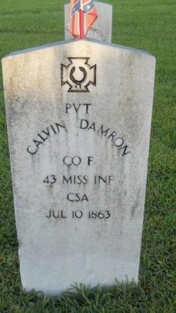 DAMRON (VETERAN CSA), CALVIN (NEW) - Warren County, Mississippi | CALVIN (NEW) DAMRON (VETERAN CSA) - Mississippi Gravestone Photos
