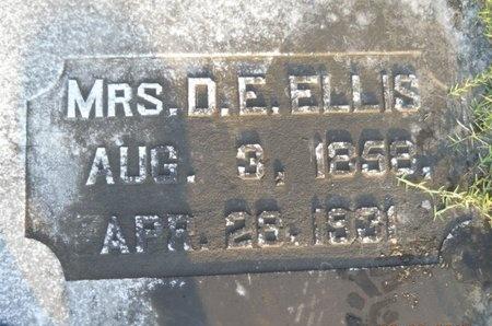 ELLIS, D E, MRS - Warren County, Mississippi | D E, MRS ELLIS - Mississippi Gravestone Photos