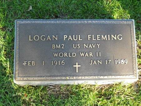 FLEMING (VETERAN WWII), LOGAN PAUL (NEW) - Warren County, Mississippi   LOGAN PAUL (NEW) FLEMING (VETERAN WWII) - Mississippi Gravestone Photos