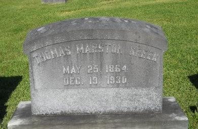 GREEN, THOMAS MARSTON - Warren County, Mississippi | THOMAS MARSTON GREEN - Mississippi Gravestone Photos
