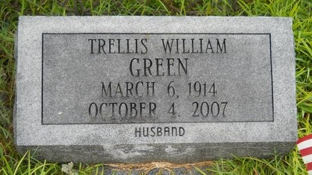 GREEN, TRELLIS WILLIAM - Warren County, Mississippi   TRELLIS WILLIAM GREEN - Mississippi Gravestone Photos