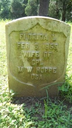 HOPPE, FLORIDA L - Warren County, Mississippi | FLORIDA L HOPPE - Mississippi Gravestone Photos