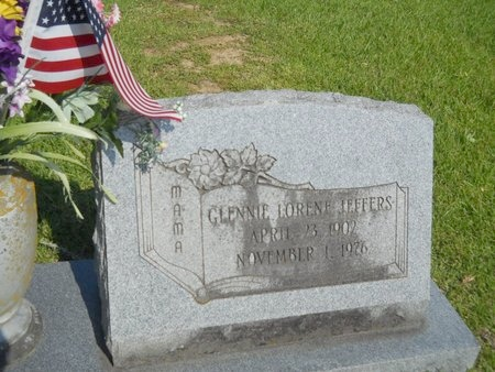 JEFFERS, GLENNIE LORENE - Warren County, Mississippi | GLENNIE LORENE JEFFERS - Mississippi Gravestone Photos