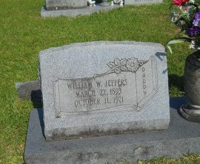 JEFFERS, WILLIAM W - Warren County, Mississippi | WILLIAM W JEFFERS - Mississippi Gravestone Photos
