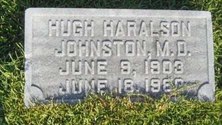 JOHNSTON, HUGH HARALSON, MD - Warren County, Mississippi | HUGH HARALSON, MD JOHNSTON - Mississippi Gravestone Photos