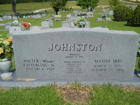 JOHNSTON, MAXINE - Warren County, Mississippi | MAXINE JOHNSTON - Mississippi Gravestone Photos