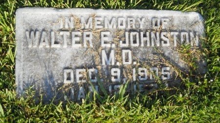 JOHNSTON, WALTER E, MD - Warren County, Mississippi | WALTER E, MD JOHNSTON - Mississippi Gravestone Photos