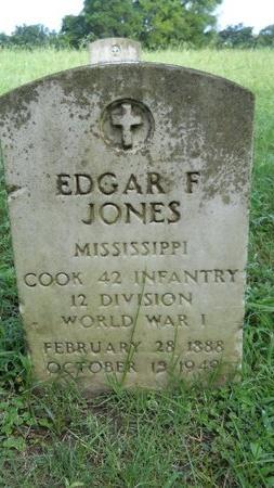 JONES (VETERAN WWI), EDGAR F (NEW) - Warren County, Mississippi   EDGAR F (NEW) JONES (VETERAN WWI) - Mississippi Gravestone Photos