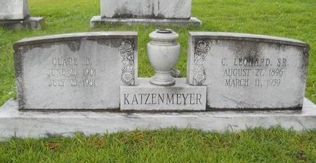 KATZENMEYER, C LEONARD, SR - Warren County, Mississippi | C LEONARD, SR KATZENMEYER - Mississippi Gravestone Photos