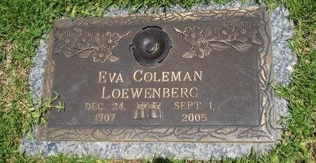 LOEWENBERG, EVA - Warren County, Mississippi   EVA LOEWENBERG - Mississippi Gravestone Photos