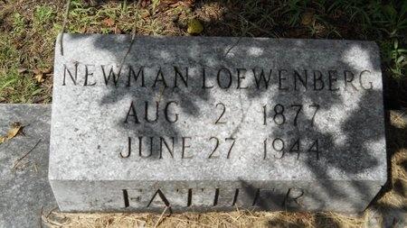 LOEWENBERG, NEWMAN - Warren County, Mississippi | NEWMAN LOEWENBERG - Mississippi Gravestone Photos