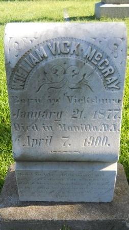 MCCRAY (VETERAN), WILLIAM VICK (NEW) - Warren County, Mississippi   WILLIAM VICK (NEW) MCCRAY (VETERAN) - Mississippi Gravestone Photos