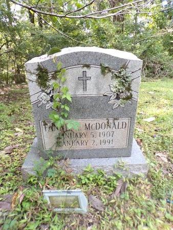 MCDONALD, FANNIE E - Warren County, Mississippi   FANNIE E MCDONALD - Mississippi Gravestone Photos