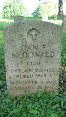 MCDONALD (VETERAN WWI), DAN F (NEW) - Warren County, Mississippi   DAN F (NEW) MCDONALD (VETERAN WWI) - Mississippi Gravestone Photos