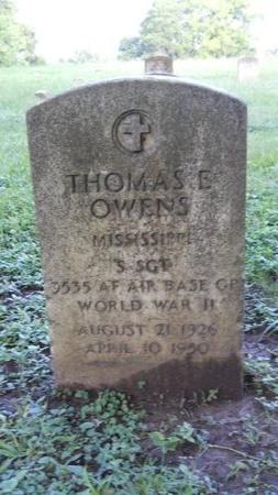 OWENS (VETERAN WWII), THOMAS E (NEW) - Warren County, Mississippi   THOMAS E (NEW) OWENS (VETERAN WWII) - Mississippi Gravestone Photos
