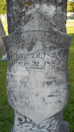PEALE, JOHN A (CLOSEUP) - Warren County, Mississippi   JOHN A (CLOSEUP) PEALE - Mississippi Gravestone Photos