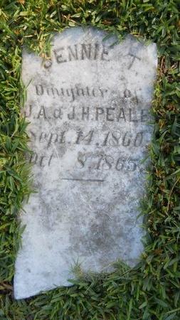 PEALE, JENNIE T - Warren County, Mississippi | JENNIE T PEALE - Mississippi Gravestone Photos