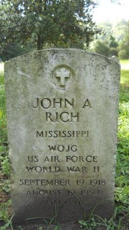 RICH (VETERAN WWII), JOHN A (NEW) - Warren County, Mississippi   JOHN A (NEW) RICH (VETERAN WWII) - Mississippi Gravestone Photos