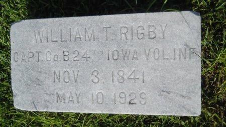 RIGBY (VETERAN UNION), WILLIAM T (NEW) - Warren County, Mississippi   WILLIAM T (NEW) RIGBY (VETERAN UNION) - Mississippi Gravestone Photos