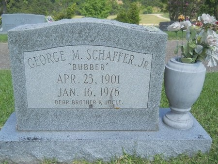 SCHAFFER, GEORGE M., JR - Warren County, Mississippi   GEORGE M., JR SCHAFFER - Mississippi Gravestone Photos