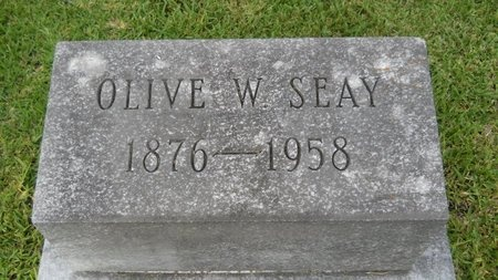 SEAY, OLIVE - Warren County, Mississippi | OLIVE SEAY - Mississippi Gravestone Photos
